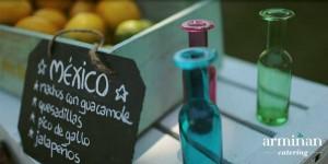 Comida mexicana de Armiñan Catering. Es un viaje a México y sus sabores.